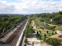 Las vías del tren, camino a Príncipe Pío