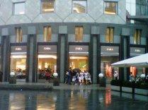 Zara in Vienna, the most international Spanish fashion shop in the world.