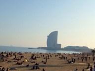 y el W hotel al final de la playa