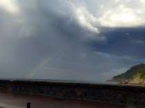Arco iris sobre el Cantábrico