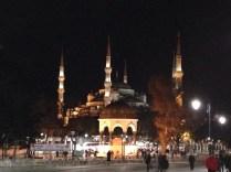 La Mezquita Azul de noche