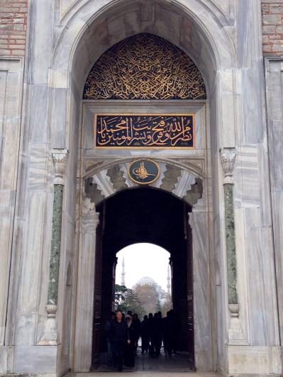 Puerta imperial del Palacio Topkapi