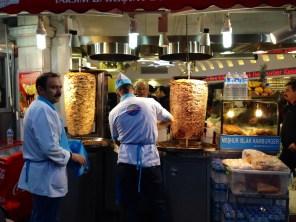 Venta de Kebab en las calles