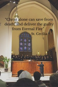 """Christ alone can save from death, and deliver the guilty from Eternal Fire"""
