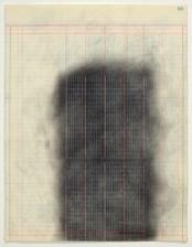 Derek Dunlop. Mason Ledger Rubbing #63 (2014). Carbón sobre papel encontrado.