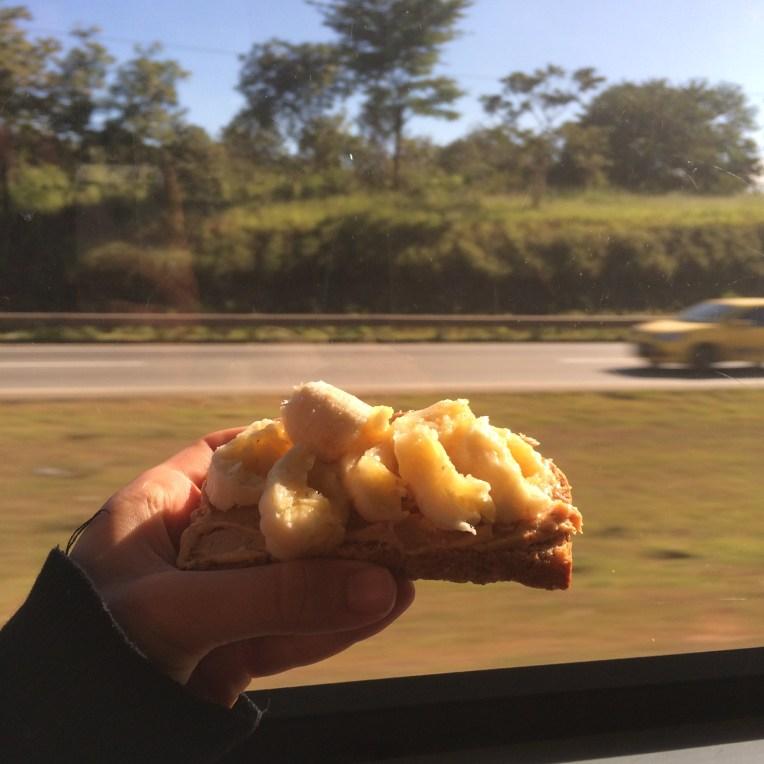 Peanut buter and banana bread (nice pic)
