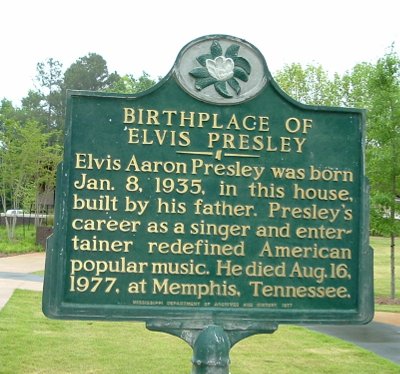 Elvis plaque