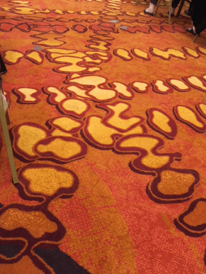 Me: Freaky carpet! T: Yeah, what's that duck doing in there?