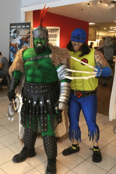 Some kinda green guy and Wolverine?