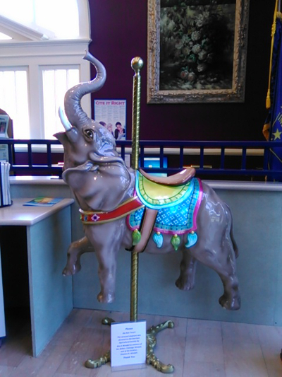 Because what's a library without an elephant in it?