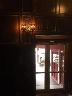 Noble lights inside front door.