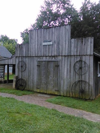 The blacksmithy.