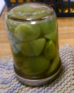 Pickled Green Termaters