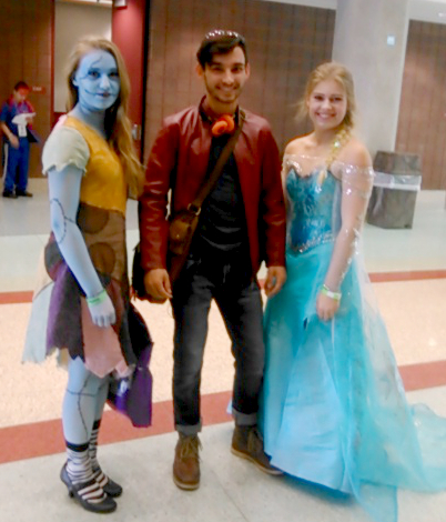 Sally from Nightmare Before Christmas, a guy from a fandom I don't know, and Elsa from Frozen