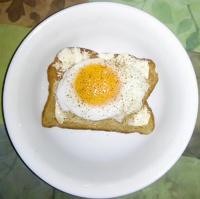 protein -- hen fruit on toast