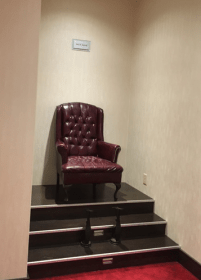 Thought it was an electric chair, but it's only for shoe shines.
