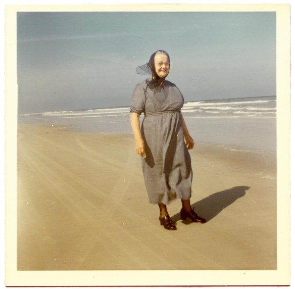 Fannie Longenecker at beach