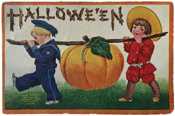 Pumpkin Power: Embossed Antique Postcards
