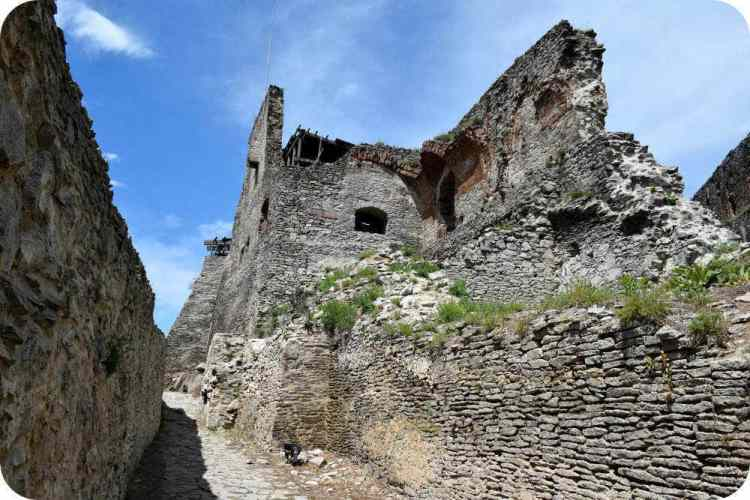 View from inside the walls of Deva Fortress