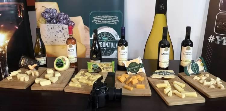 Tot 6 tipuri de brânză Delaco, 6 vinuri oltenești