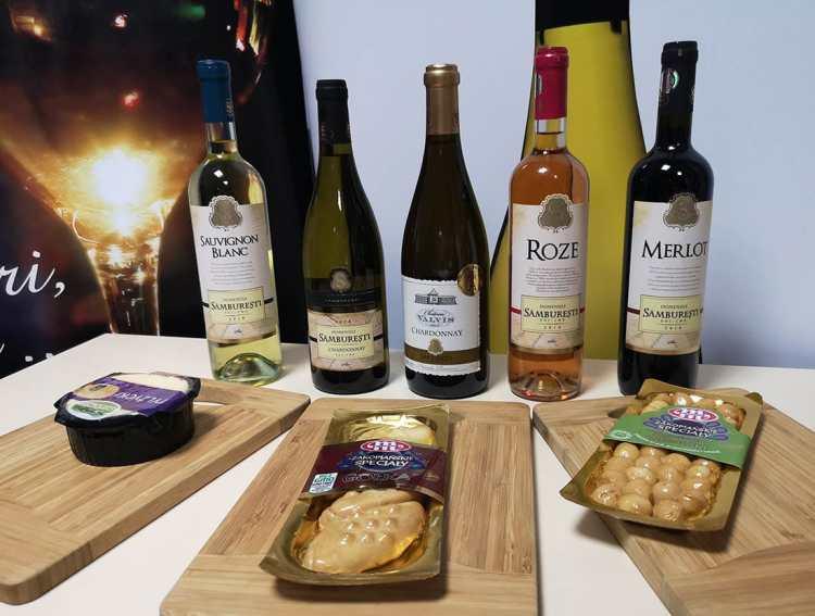 Brânzeturi poloneze  și vinuri Sâmburești oltenești