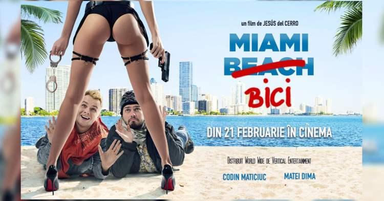Poster Miami Bici cu elemente de clickbait
