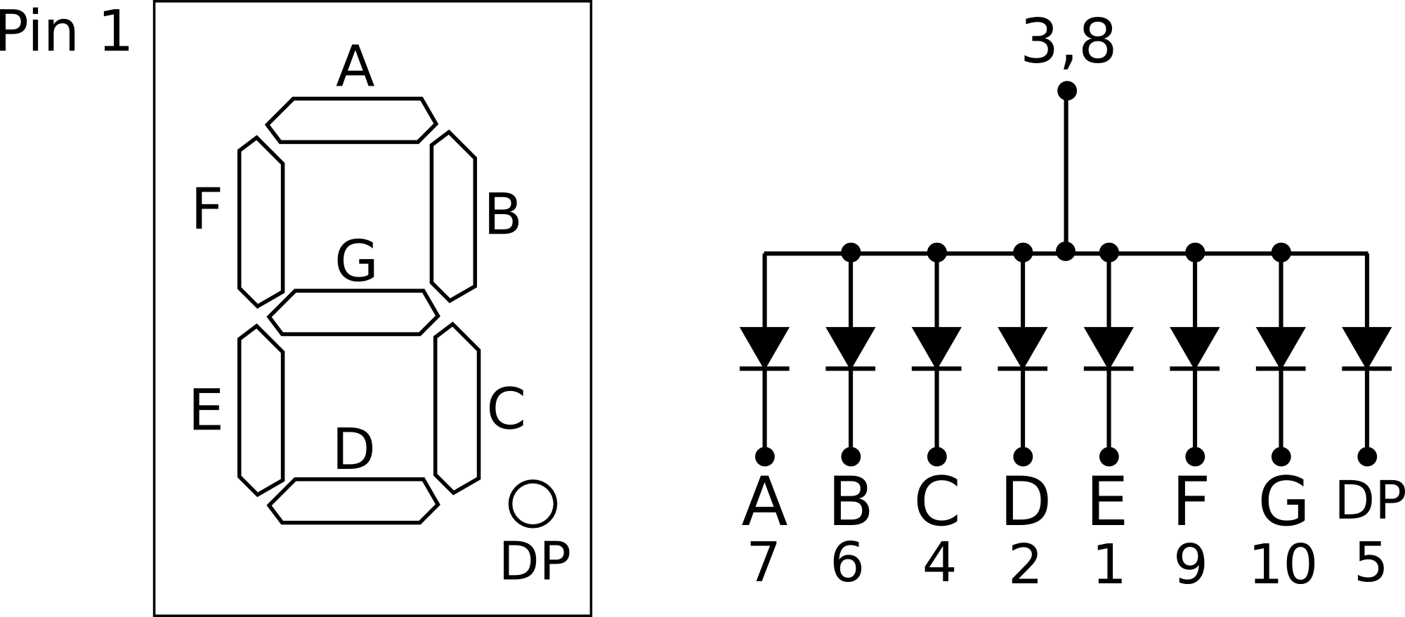 Lcd 7 Segment Display Schematic Decoder Circuit Diagram