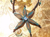 macrame starfish pendant