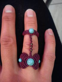 macrame double ring