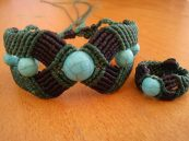 Macramé bracelet with ring