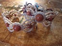 Macramé bracelets with semi-precious beads