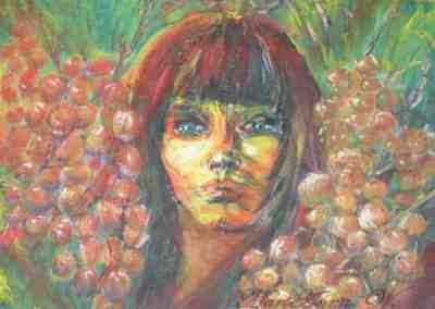 August, acrylic on canvas by © MariAnna MO Warr