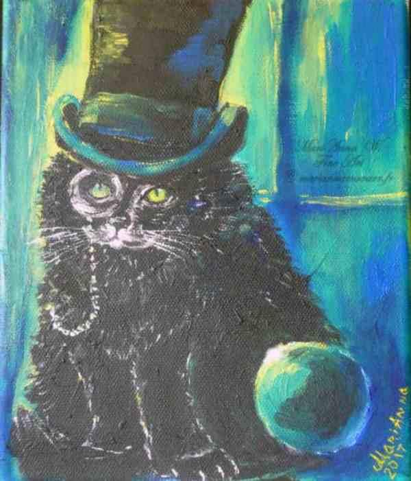 Little Gentleman, acrylic on canvas by © MariAnna MO Warr