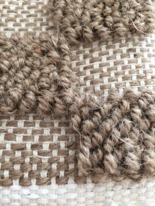 Pic. 1. [Nello M. (2015) Hemp, woven sample from studio practice.]