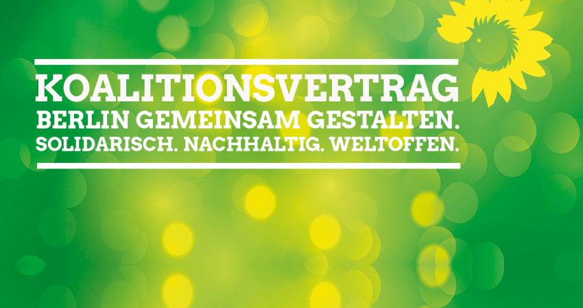 Sharepic: Koalitionsvertrag Berlin rot rot grün