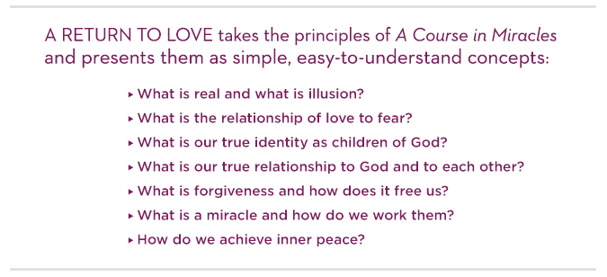A Return To Love Quotes Amazing Return To Love Sixpart Online Course  Marianne Williamson