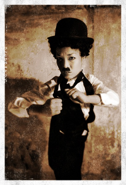Marianne Cheesecake as Charlie Chaplin