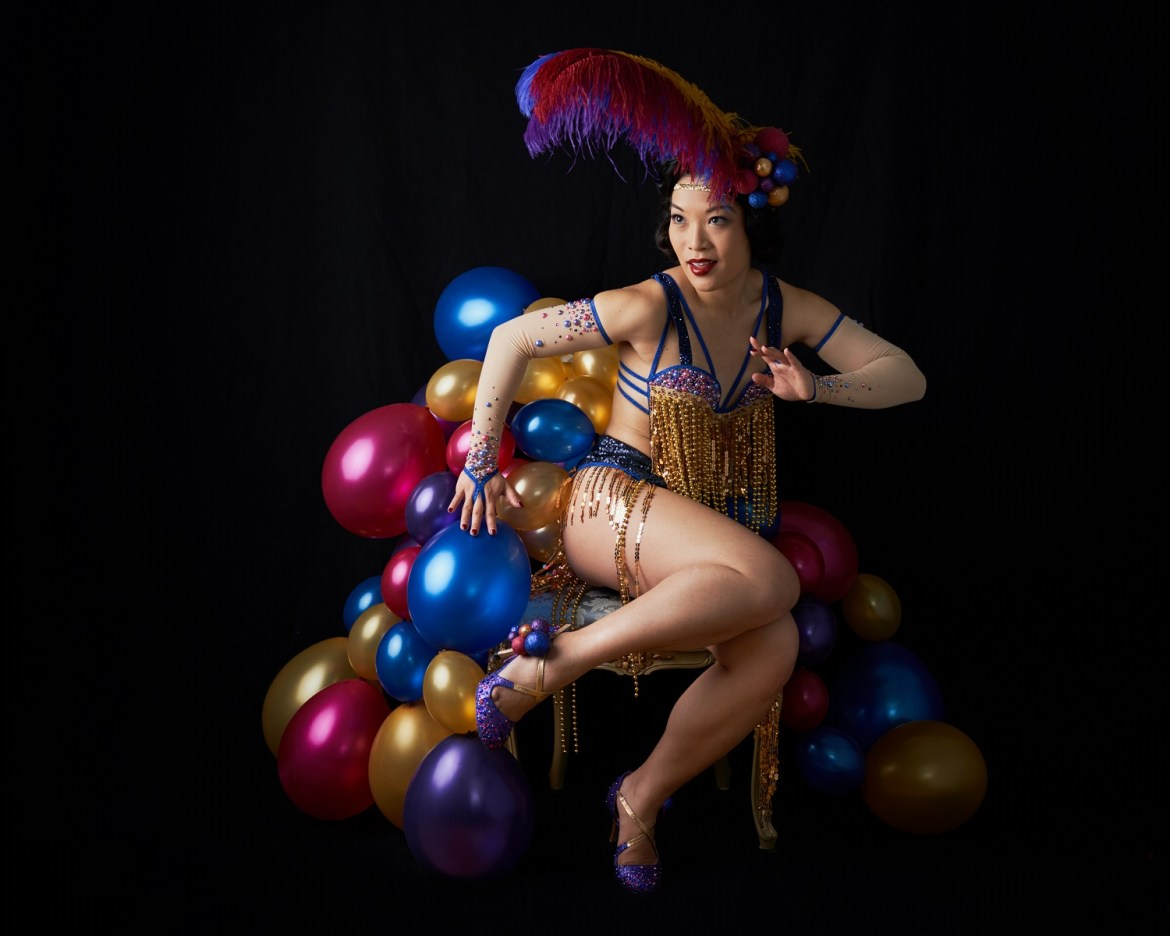 Marianne Cheesecake presents her Berrylicious burlesque act. Photo by John-Paul Bichard.