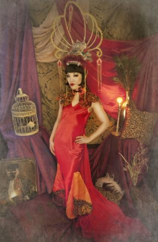 "Marianne Cheesecake pays tribute to Anna May Wong as ""The Dragon Lady""."
