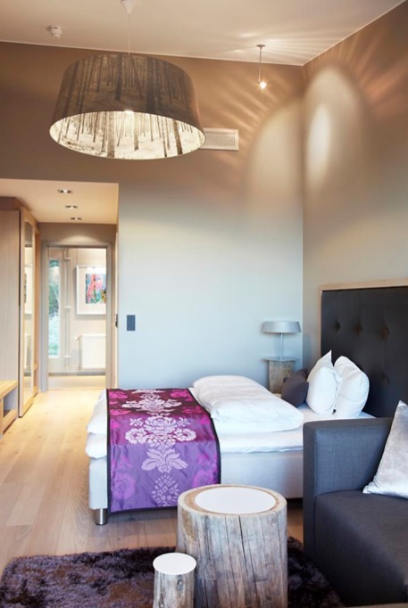 Hotellrom i moderne stil på Lysebu