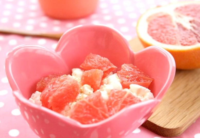 Ingeniørfruens frokost med grapefrukt og cottage cheese