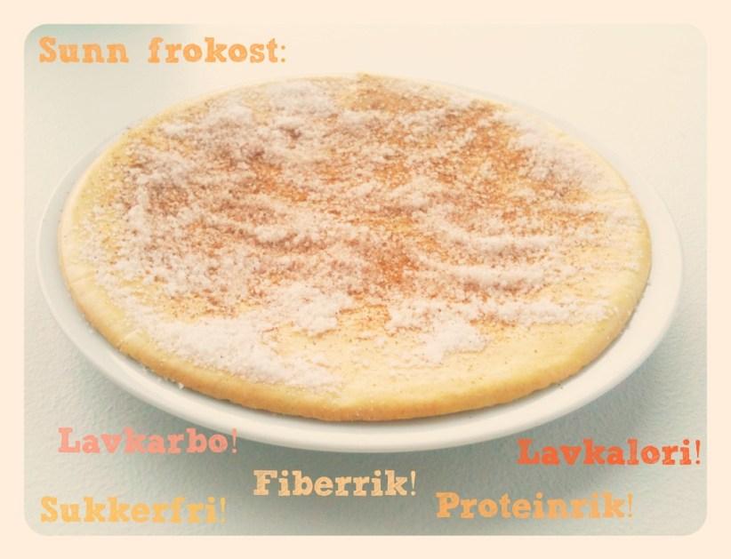 Ingeniørfruens sukkerfrie lavkalori proteinrike fiberrike lavkalori pannekake