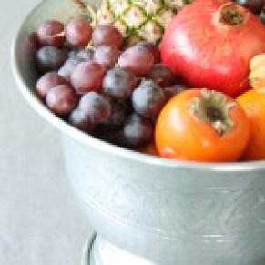 Ingeniørfruens champagnekjøler som fruktfat