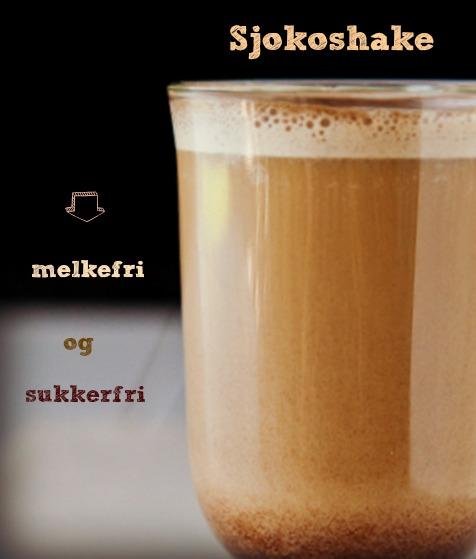 Oppskrift på sukkerfri og melkefri sjokoshake