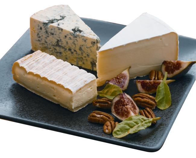 Blåmuggoster på ostefatet