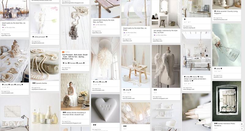 Idemagasinets inspirasjon til vakre hvite nyanser på Pinterest