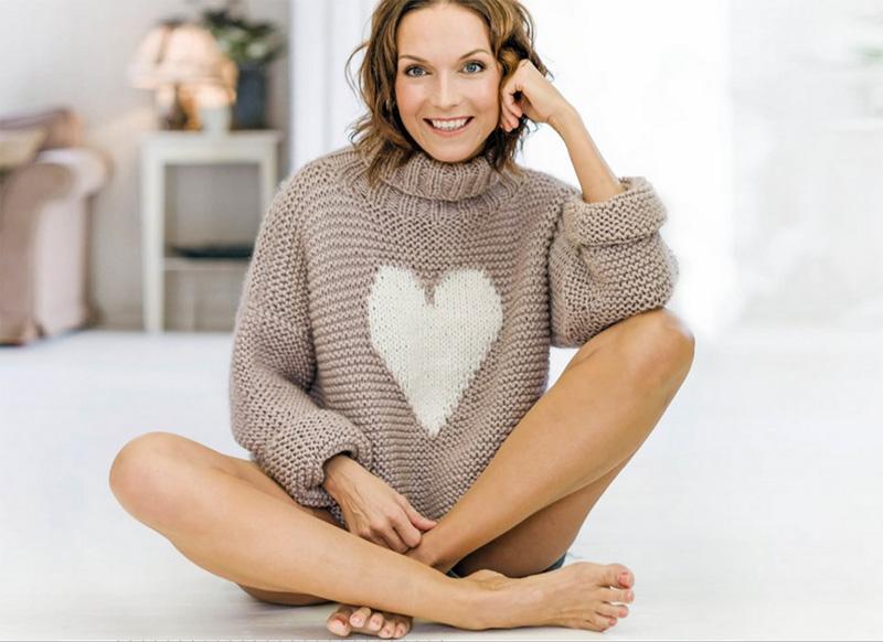 Mønster på genser i Alpacagarn | Marianne de Bourg