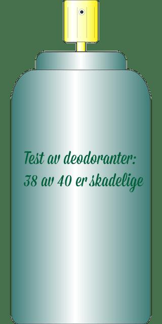 TEST av deodoranter - 38 av 40 inneholder skadelige stoffer