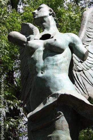 Art work by Mexican sculptor Jorge Marin
