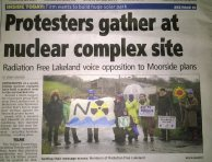 Protestors gather at Moorside site